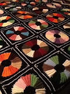 Free #crochet pattern: Color Wheel Squares Afghan by Wanda Stribling