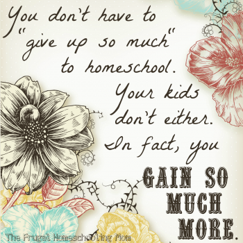 """I liked this quote. I've heard versions of it elsewhere, and I have no idea where the thought originated. But it's very true. You don't have to """"give up so much"""" to…"""