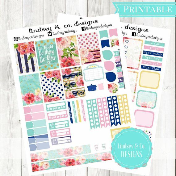 Classic Happy Planner Kit || Be Bright || Printable for