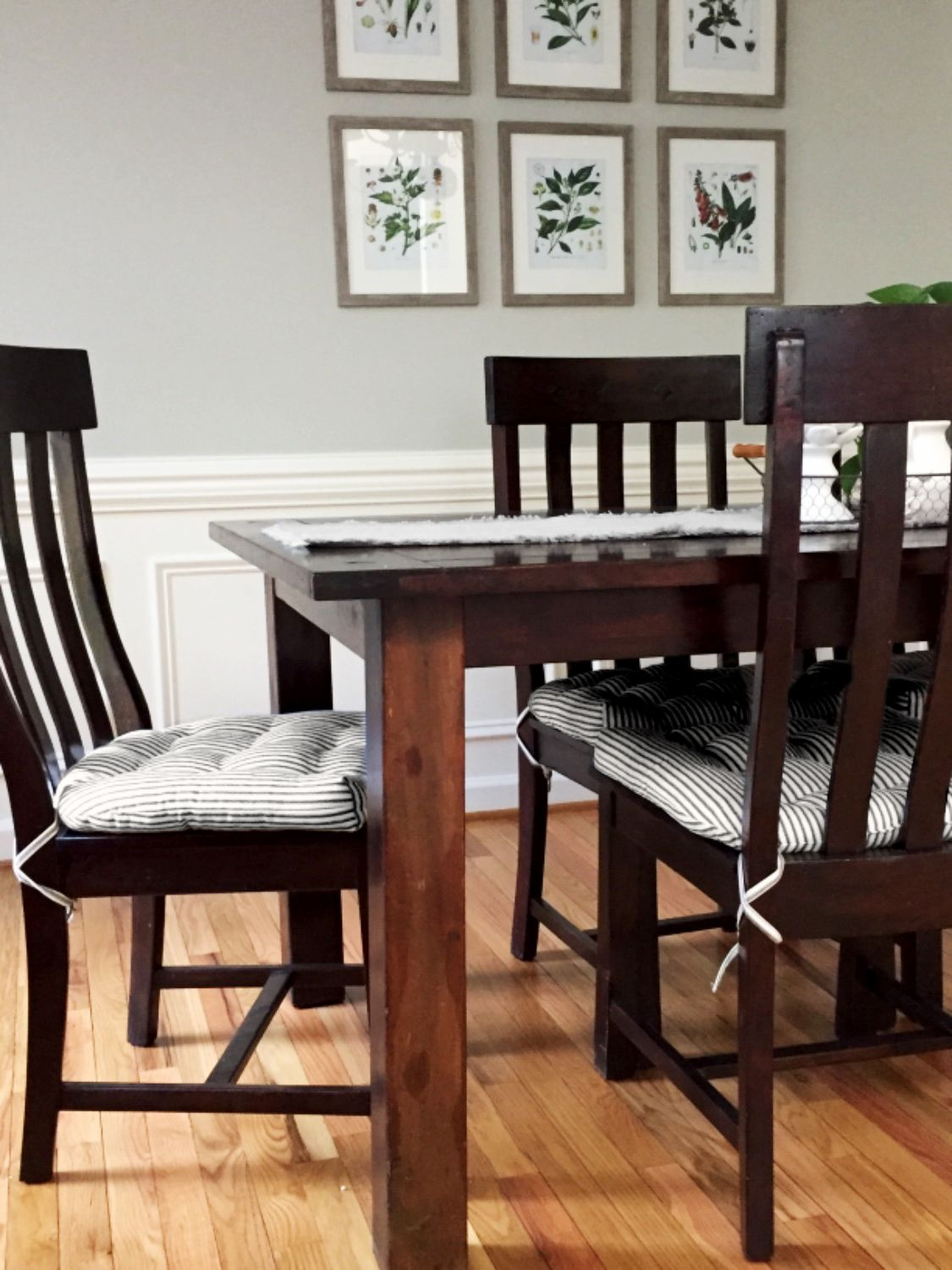 The Black And White Ticking Chair Pads Fit Our Chairs Perfectly Are Comfortable Look Beautiful In Dining Room They Exactly What I Was