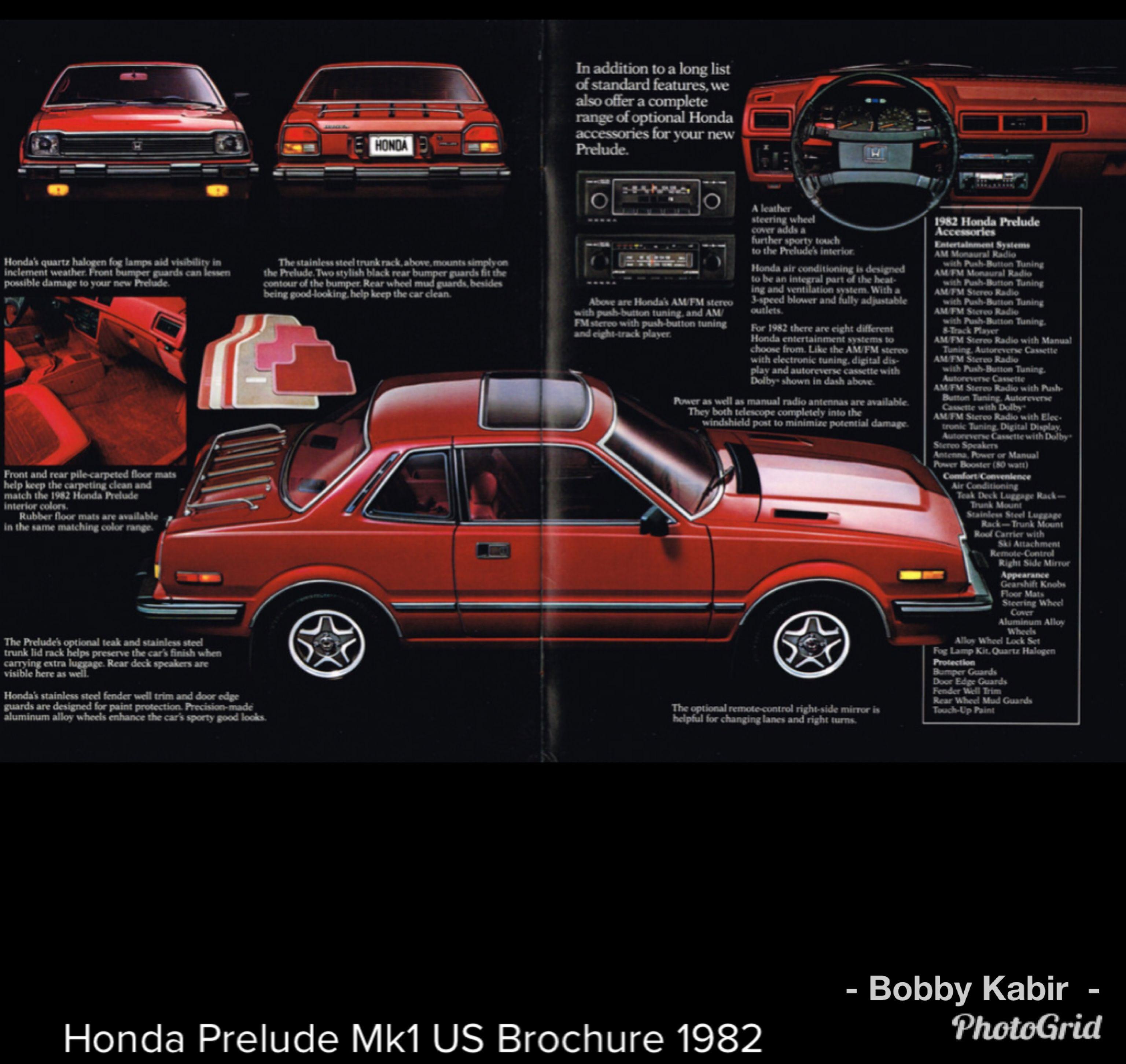 1982 Honda Prelude (Mk 1) USA by Honda Brochures on