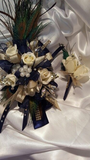 Peacock Prom Flowers