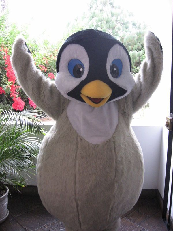 Penguin Mascot Adult Full Face Animal Costume Funny Halloween Mask