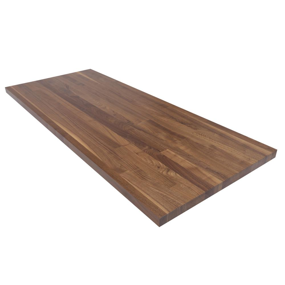Swaner Hardwood Co 5 Ft L X 2 Ft 1 In D X 1 5 In T Butcher Block Countertop In Finished Walnut In 2019 Products Butcher Block Countertops Countertops