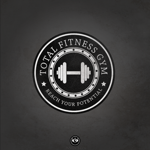 Total Fitness Gym Logo by Jelani Lebourne, via Behance