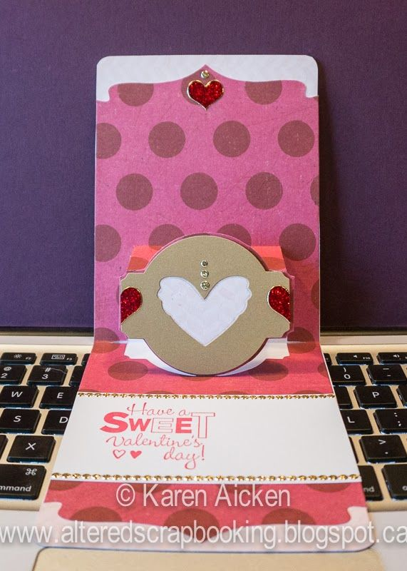 Lots of Hearts Valentine Pop-UP Card