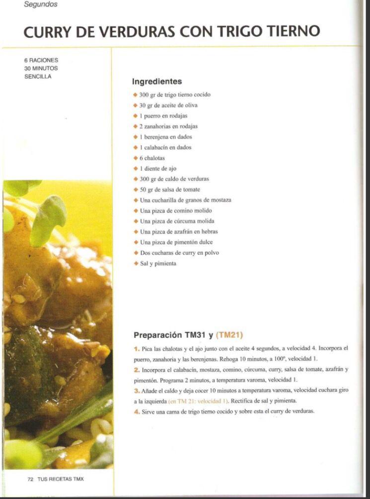 Trigo de verduras con curry