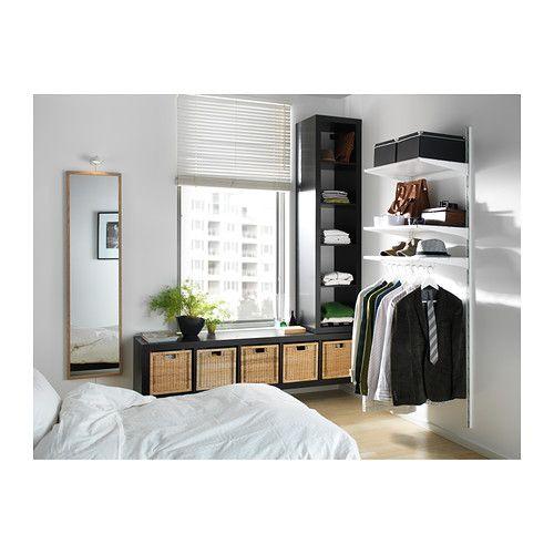 Ikea Stave Spiegel stave spiegel wit gelazuurd eikeneffect 40x160 cm ikea