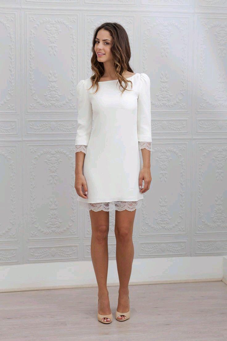 Short lace bride dress brÖllop pinterest bride dresses shorts
