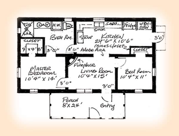 2 bedroom home plans house plans design - Plan Of House
