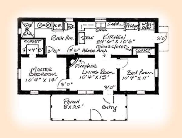 Simple One Bedroom House Plans Bedroom Adobe House Plans Adobe House Plan 1248 Adobe House House Plans One Bedroom House Plans