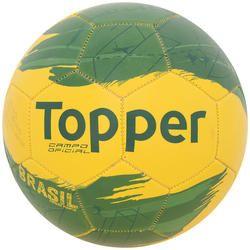 Bola de Futebol de Campo Topper Brasil 4130326 - Amarelo Verde Desconto  Centauro para Bola de Futebol de Campo Topper Brasil 4130326 -  Amarelo Verde por ... c65eb905f497d