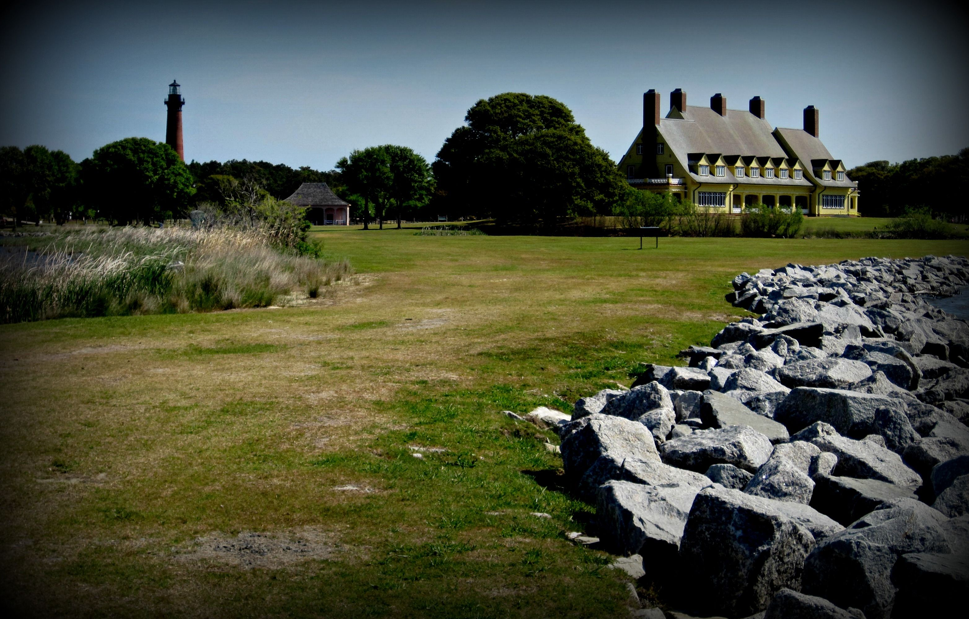 Whalehead Club with the Currituck Lighthouse......Corolla