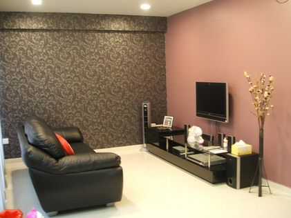 Elegant Dark Abstract Wallpaper Makes A Dramatic Statement When Hung On Only One  Wall As An Accent. Living Room ... Part 24