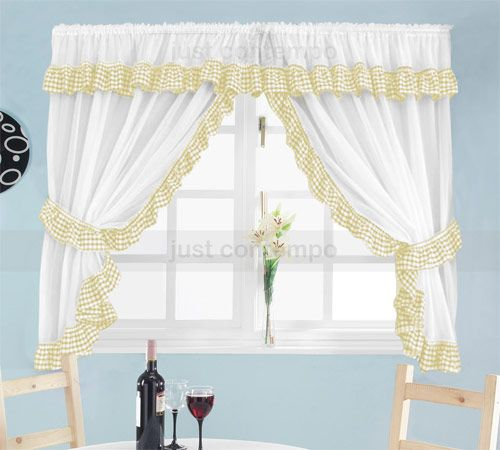 Attrayant The Gingham Curtain » Yellow Gingham Kitchen Curtains