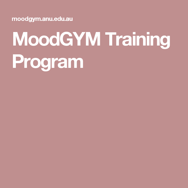 MoodGYM Training Program great for me as an aspie! Cognitive Behavioral Therapy