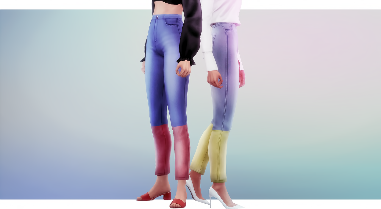 Maxis Finds CatplntIo — Match Sims 4 Jeans Denim wiXZuTOPk