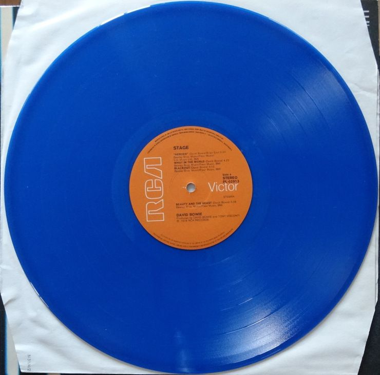 From The Stacks David Bowie Stage Blue Vinyl David Bowie Blue Vinyl Bowie
