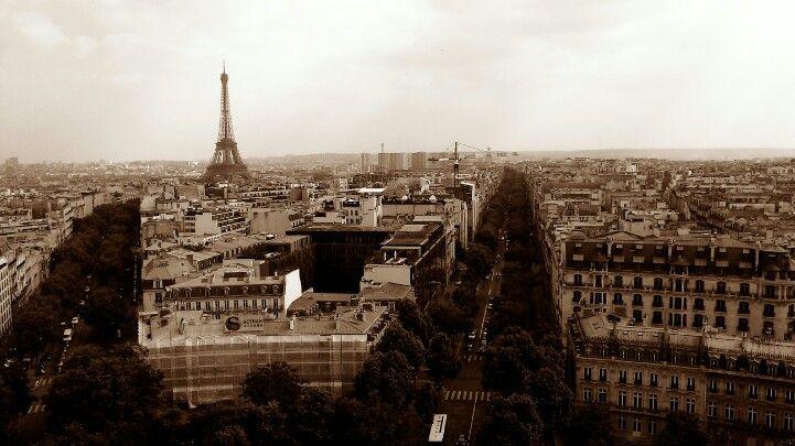 Paris Desde el arco del triunfo