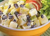 Portuguese: potato, apple & raisin salad