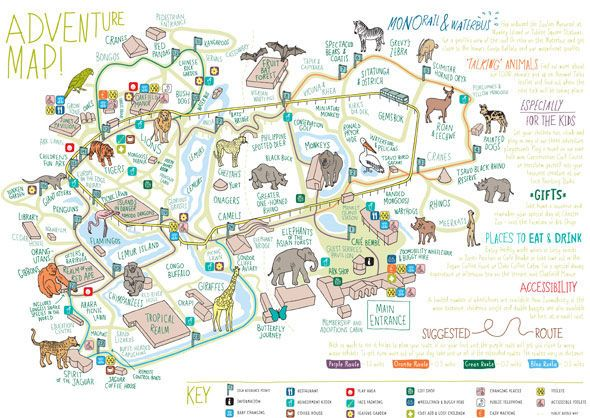 Chester Zoo map Map layout and design for Chester Zoo Map