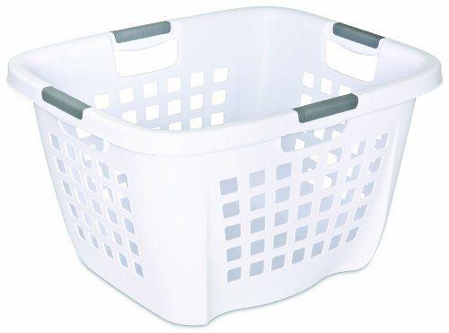Sterilite 2 1 Bushel Ultra Laundry Basket White Pack Of 6
