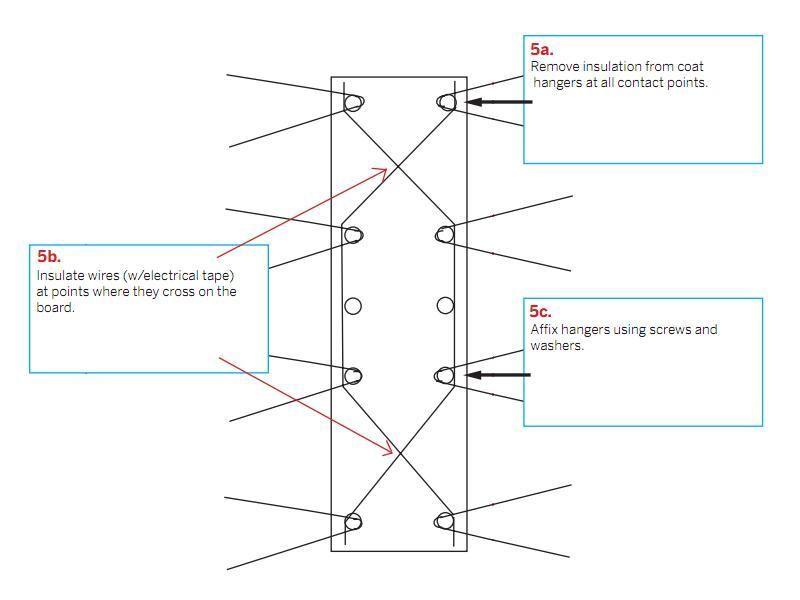 make a digital tv coat hanger antenna things to make rh pinterest com