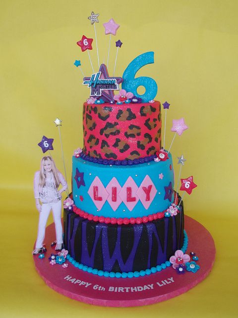 Enjoyable Hanna Montana 6Th Birthday Cake With Images 6Th Birthday Cakes Funny Birthday Cards Online Barepcheapnameinfo