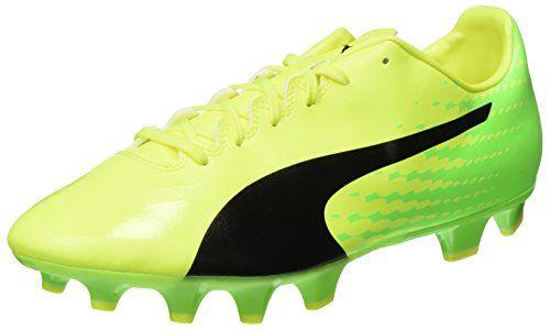 Evospeed 17.5 IT, Chaussures de Football Compétition Homme, Jaune (Safety Yellow Black-Green Gecko 01), 44.5 EUPuma