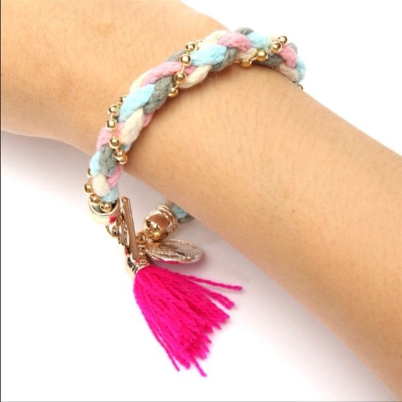 Braided bracelet New design handmade braided rope colored coin pendant bracket new Jewelry Bracelets