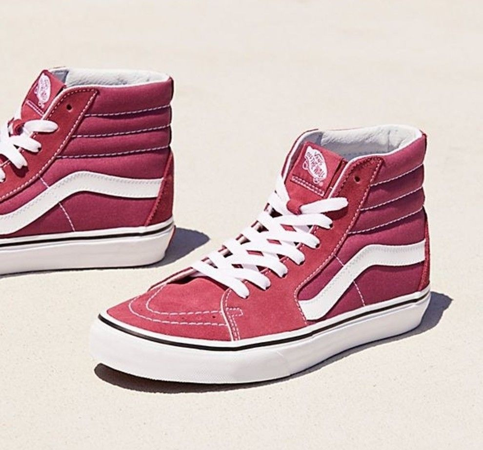 A pair of Vans hightop sneakers, because these days they