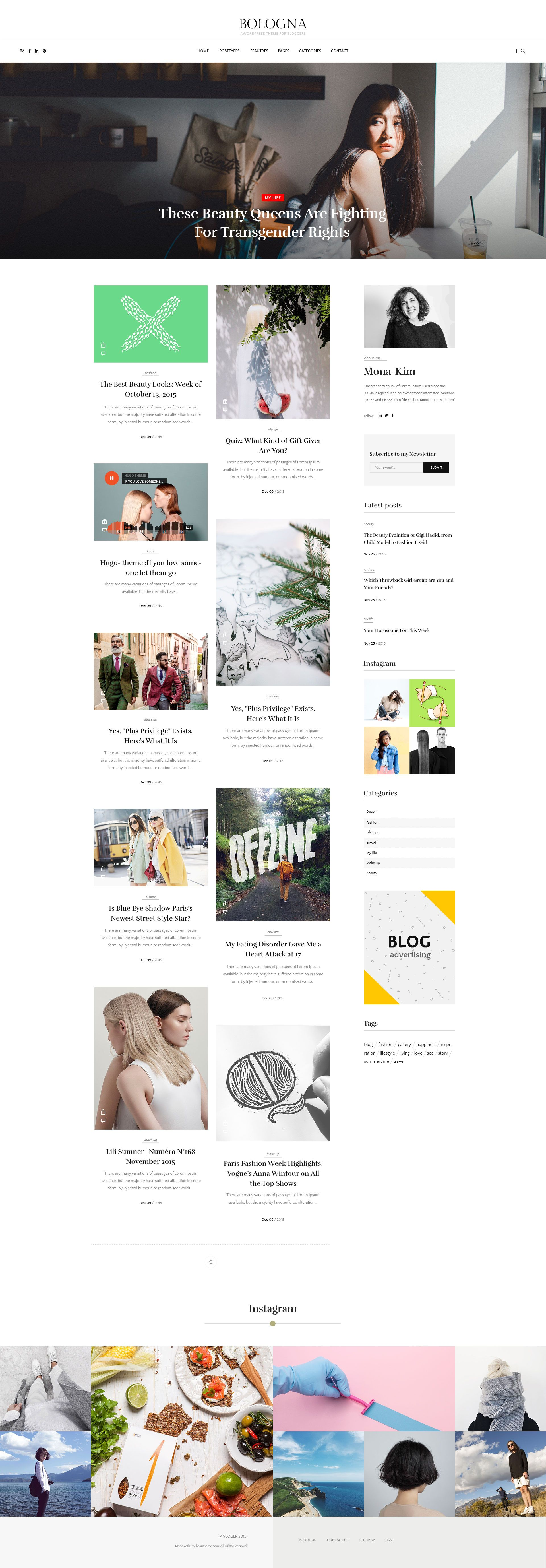 Free PSD Design File Of Bologna WordPress Theme More PSD ...