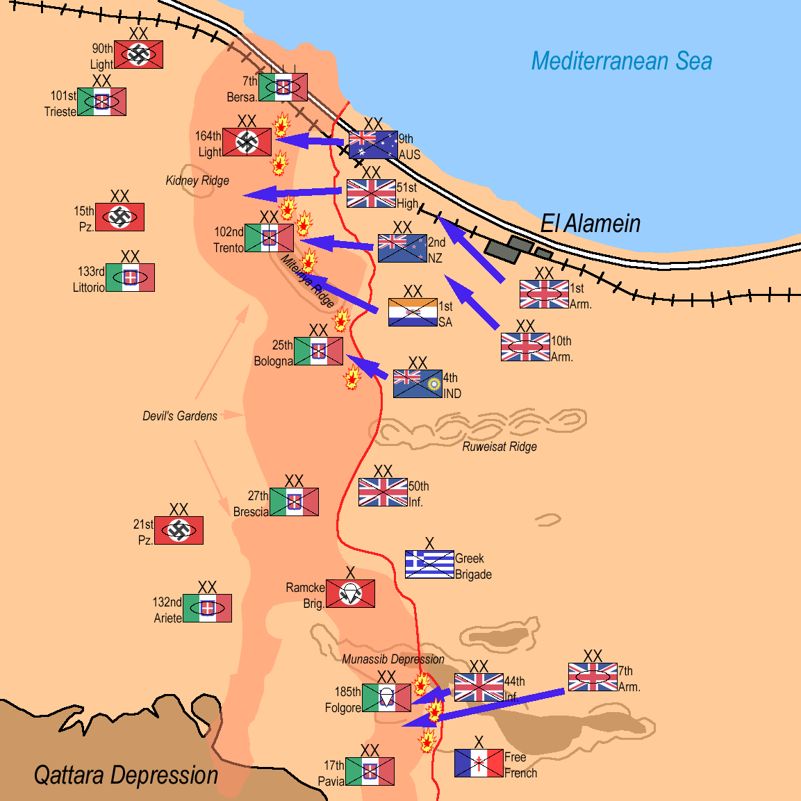 Battle of El Alamein maps Pinterest North africa