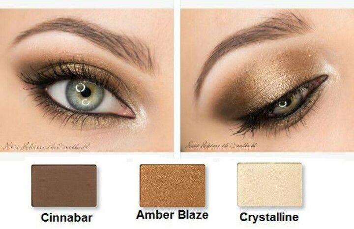 Using the mary kay eyeshadows Usando las sombras minerales de Mary Kay…