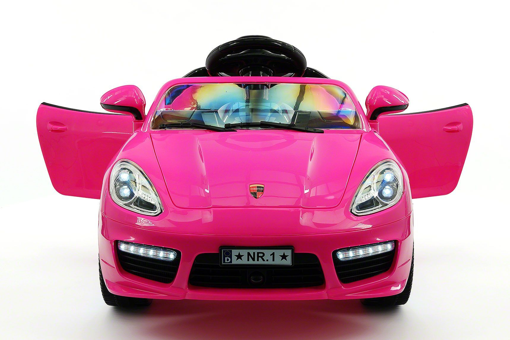 Porsche Style 12V Kids Electric Ride-On Car with R/C Parental Remote ...