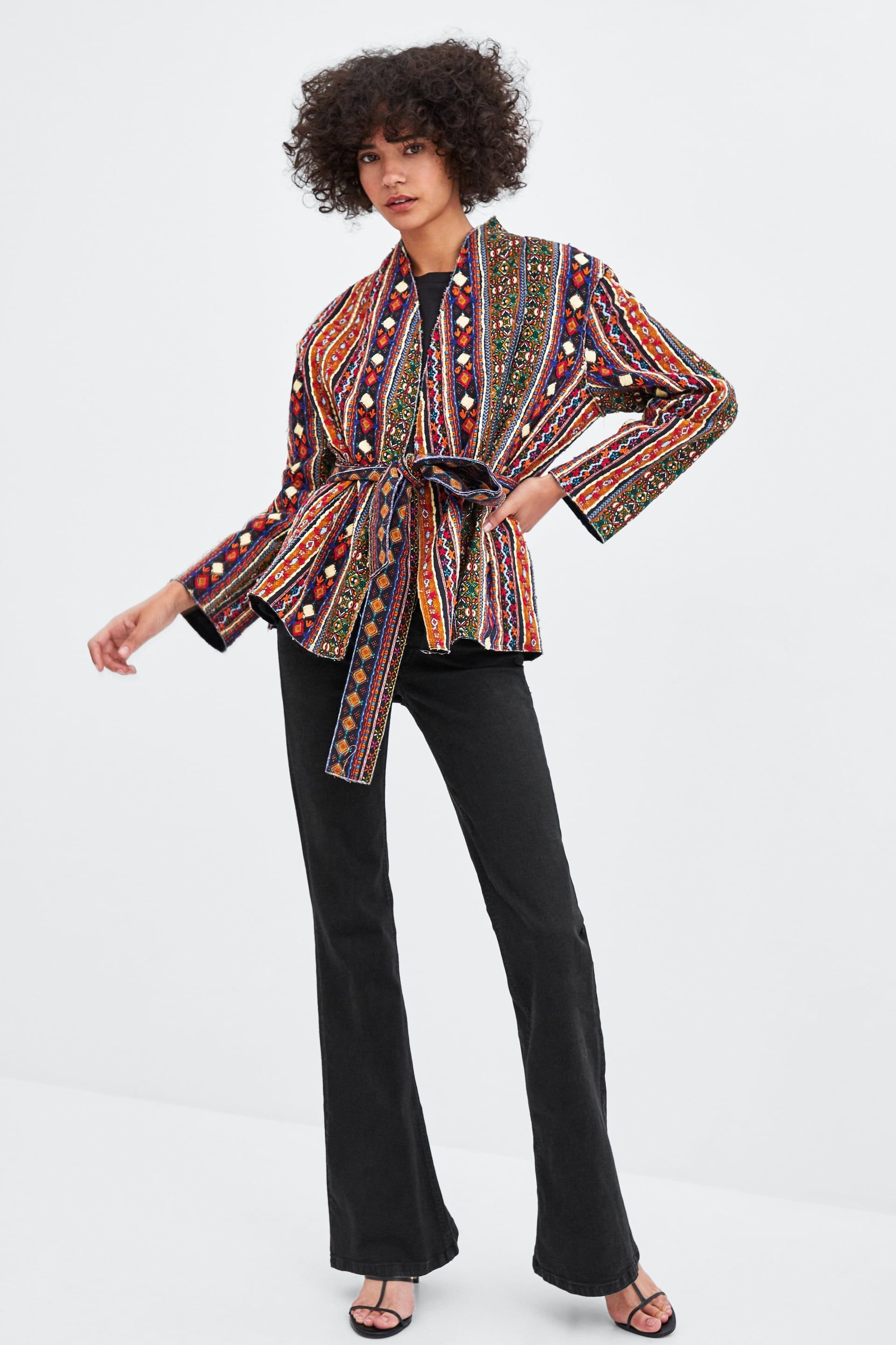 2dee3f16359 Image 1 of EMBROIDERED JACKET from Zara