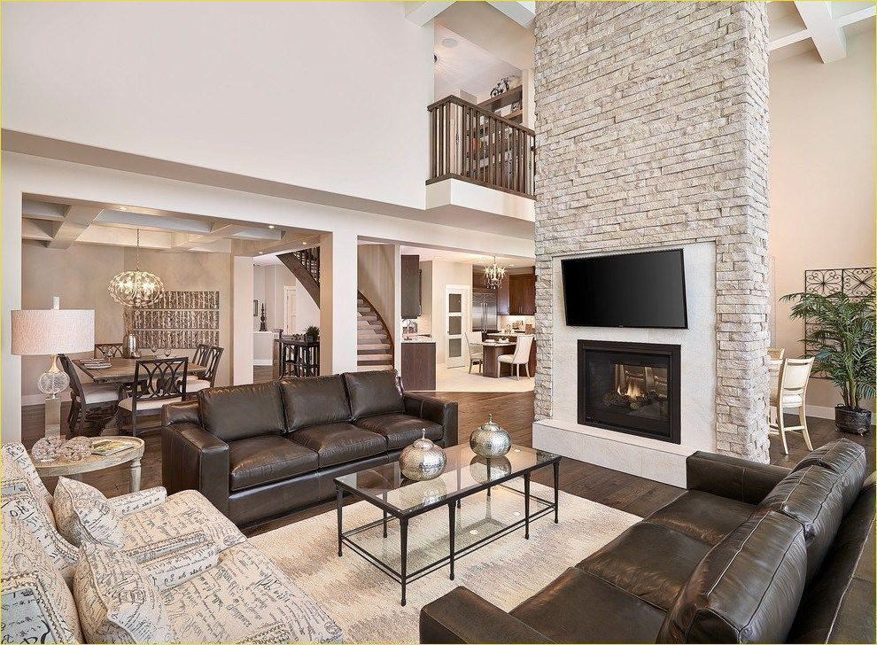 Best 54 Awesome Big Living Room Design Ideas With Stairs 640 x 480