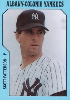 1985 Tcma Albany Colonie Yankees 10 Scott Patterson Front 1985