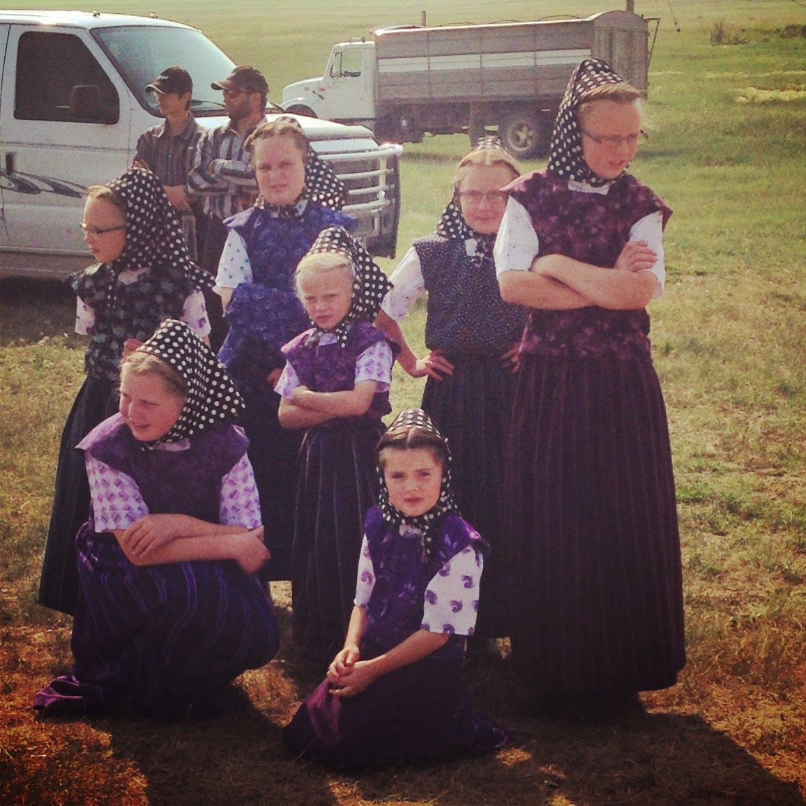 Young Hutterite girls