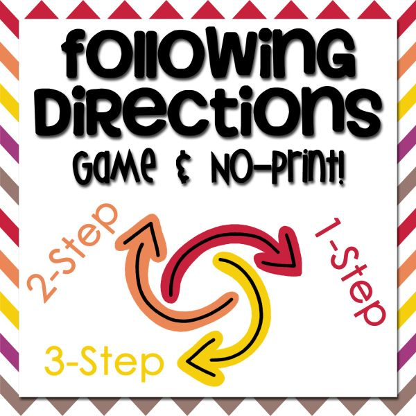 New Product :: Following Directions Game & No-Print