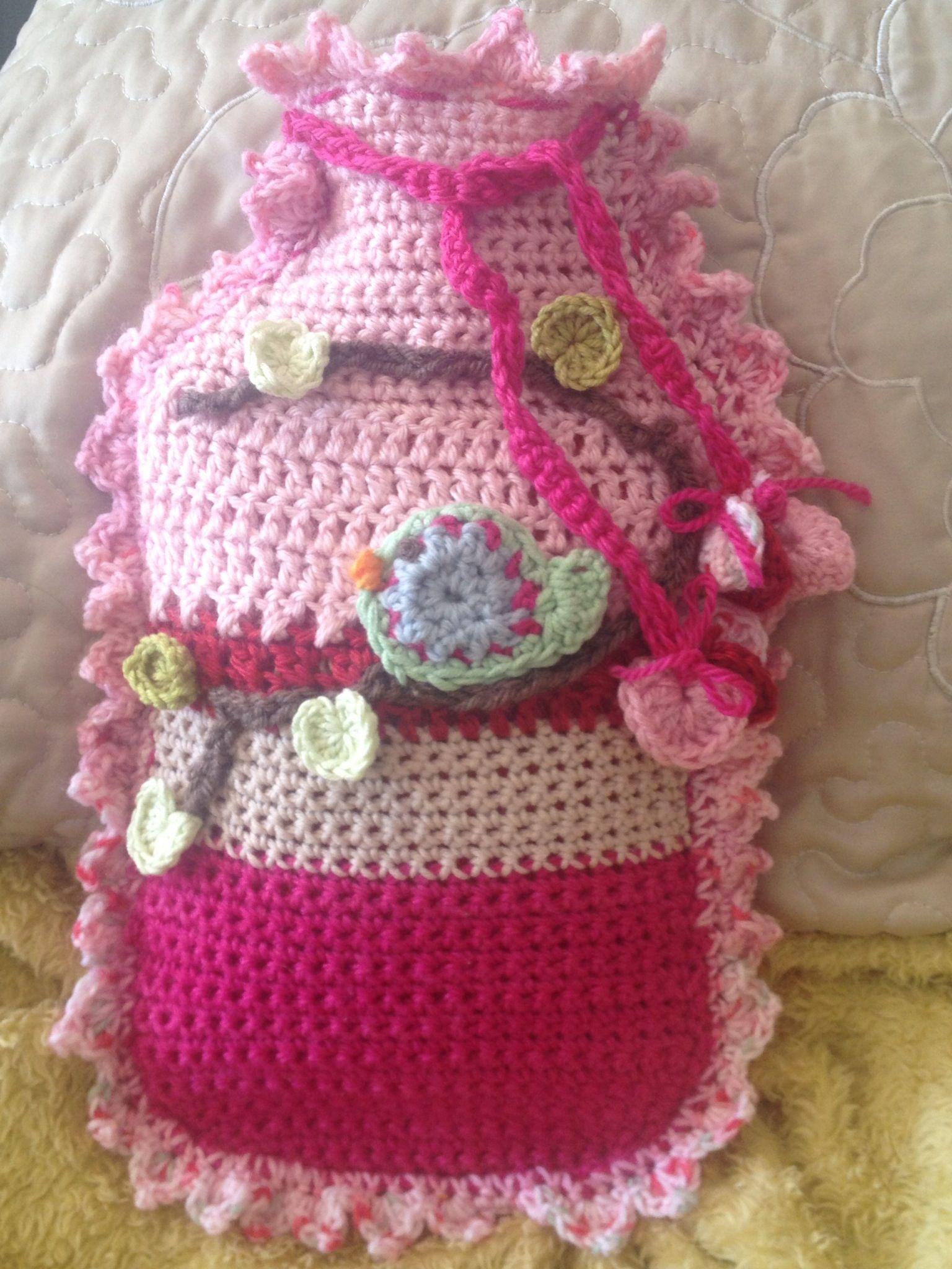 Yummy....Crochet Birdie Hot Water Bottle Cover. | Snuggle~Snuggle ...