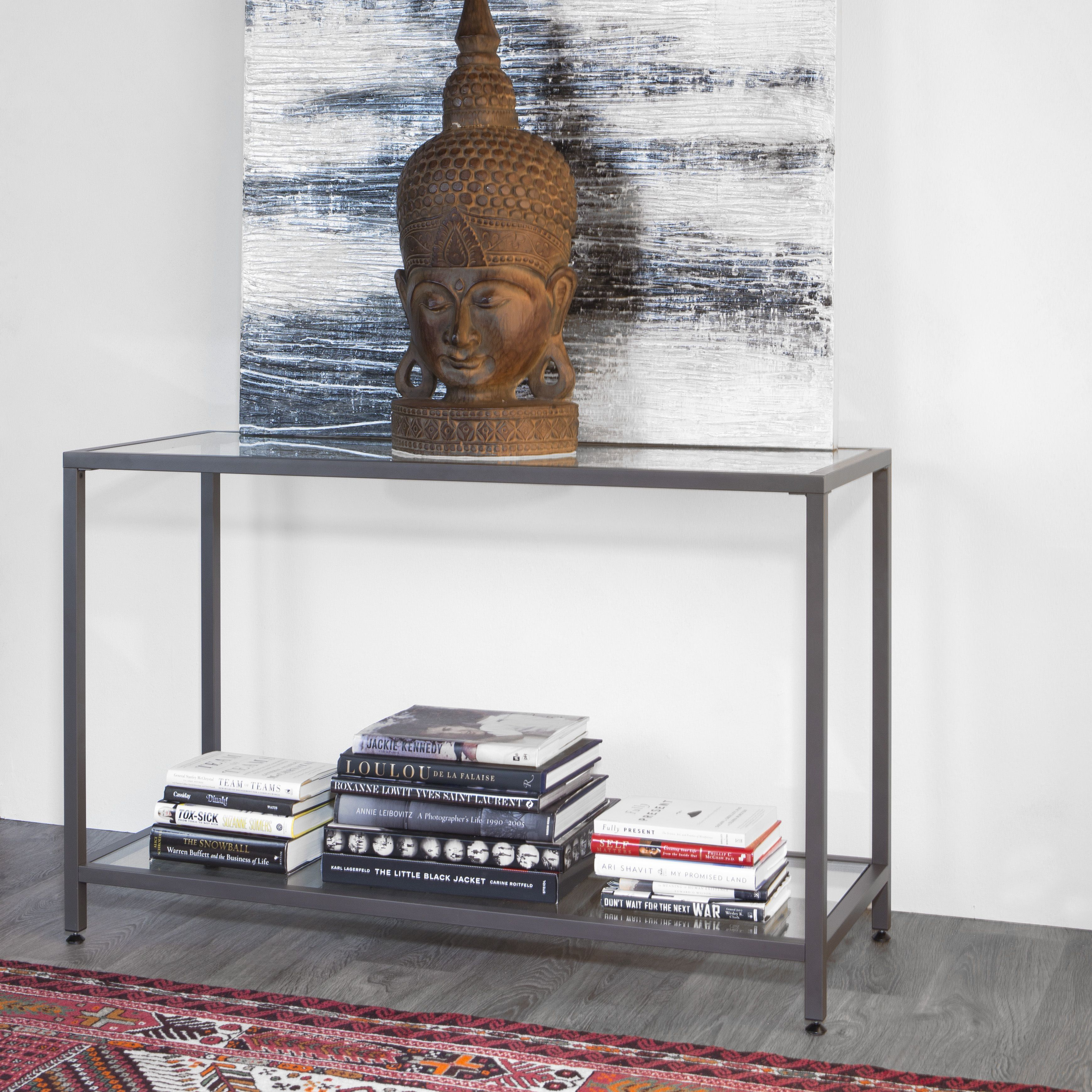 This simple, but effective console table will provide the perfect ...