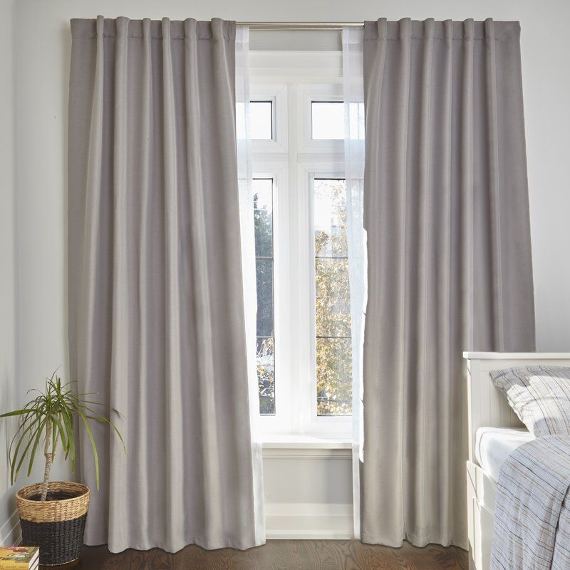 Twilight Room Darkening Double Curtain Rod Double Rod Curtains