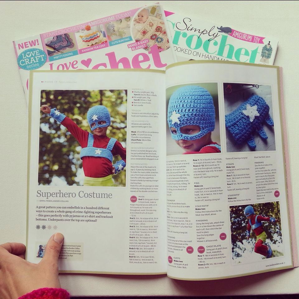 Emma's crochet published article. Superhero costume Cape and mask sets £10 Facemasks £3 Happy customers ;) Hen bling bride to be Charity capes, can we help you? Rain ponchos! £8.50 Transformer Masks £4 Wonder Woman! Charity outfit Bat daddy and robin son! Father and son capes Capes for everyone! Personalised capes for nurses school learning area world book day Minion capes My funny valentine cape gift...Craft stall mask workshops East Sussex eastbourne The level Brighton stall selling fair…