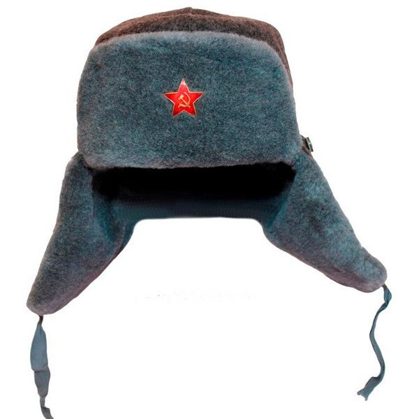 639444e447a 80s Russian ushanka winter hat Military surplus USSR WW2 Red star... (115  BRL) ❤ liked on Polyvore featuring accessories