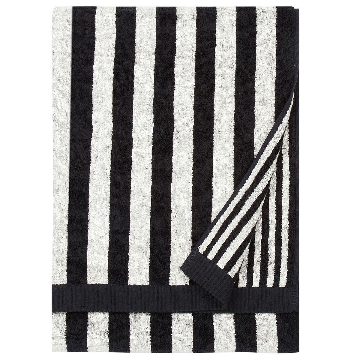 Marimekko Kaksi Raitaa Bath Towel Black White Marimekko