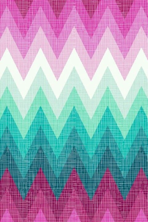 PINK Mint And White Ombre Chevron Phone Wallpaper Background Inspirational