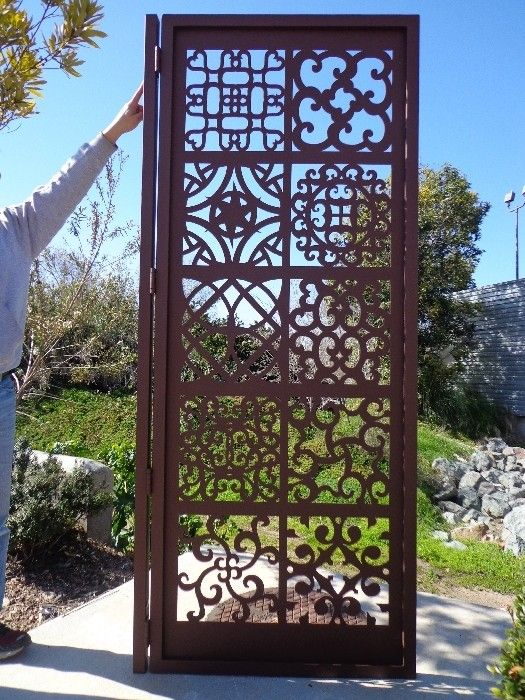 Metal Art Gate Ornamental Estate Designer Custom Wrought Iron Garden Steel  | EBay | Gates | Pinterest | Wrought Iron, Gate And Iron