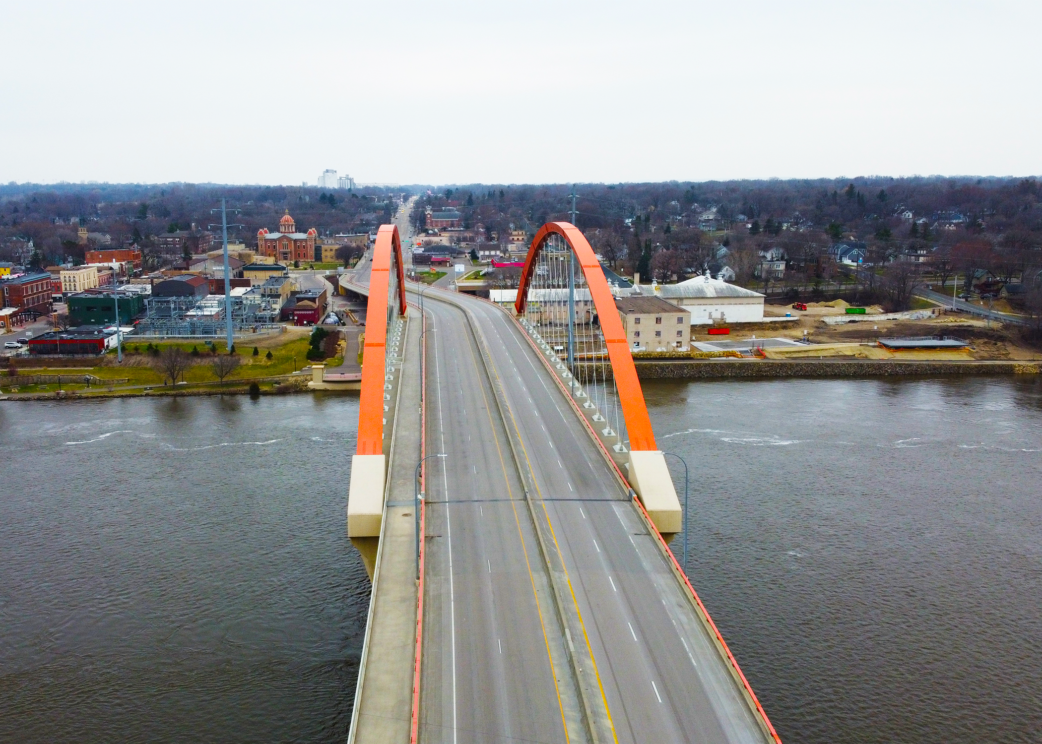 ITAP: Drone View of a Bridge over the Mississippi River in MN!#PHOTO #CAPTURE #NATURE #INCREDIBLE