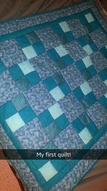 My first quilt. Not perfect or spectacular, but it's mine. So proud.